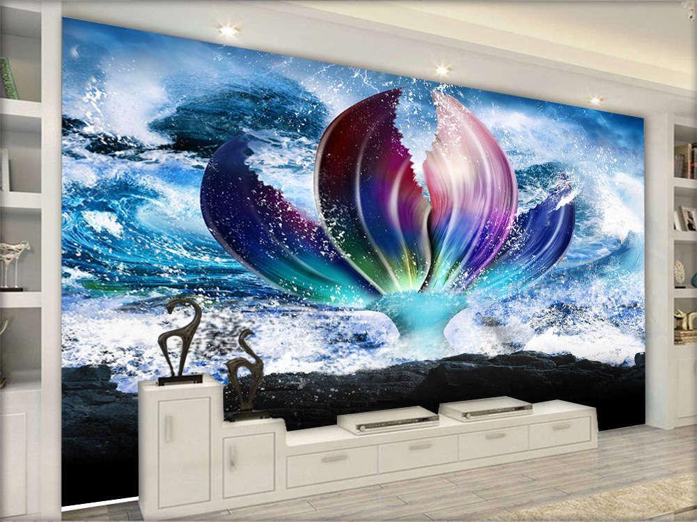 Fantasy Cool Flower 3D Full Wall Mural Photo Wallpaper Printing Home Kids Decor