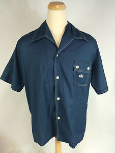 Vintage Mens 70s Kings Road Sears Surf Hawaiian Tiki Beach Mod Retro Shirt XXL