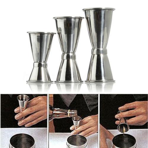 3 Size Jigger Single Measure Cup Double Shot Cocktail Wine Short Drink Bar