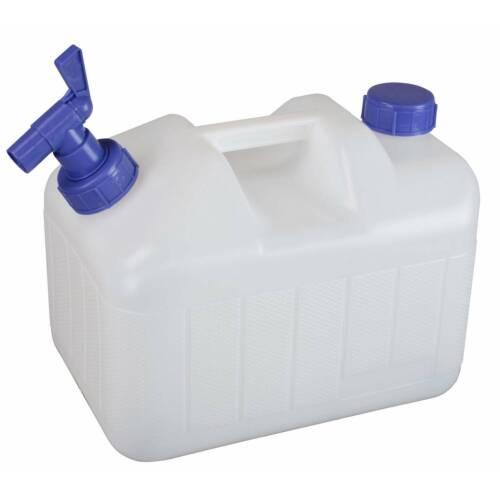 Wasserkanister 10 Liter Frischwasser Kanister mit Hahn Camping Wassertank HDPE