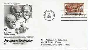 US-Scott-1501-First-Day-Cover-7-10-73-New-York-Single-Electronics