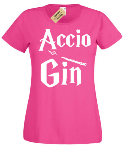 Accio Gin Womens T-Shirt Funny harry inspired potter gift idea ladies present