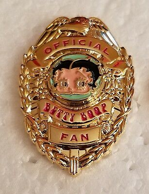 BETTY BOOP OFFICIAL FAN BADGE LAPEL PIN