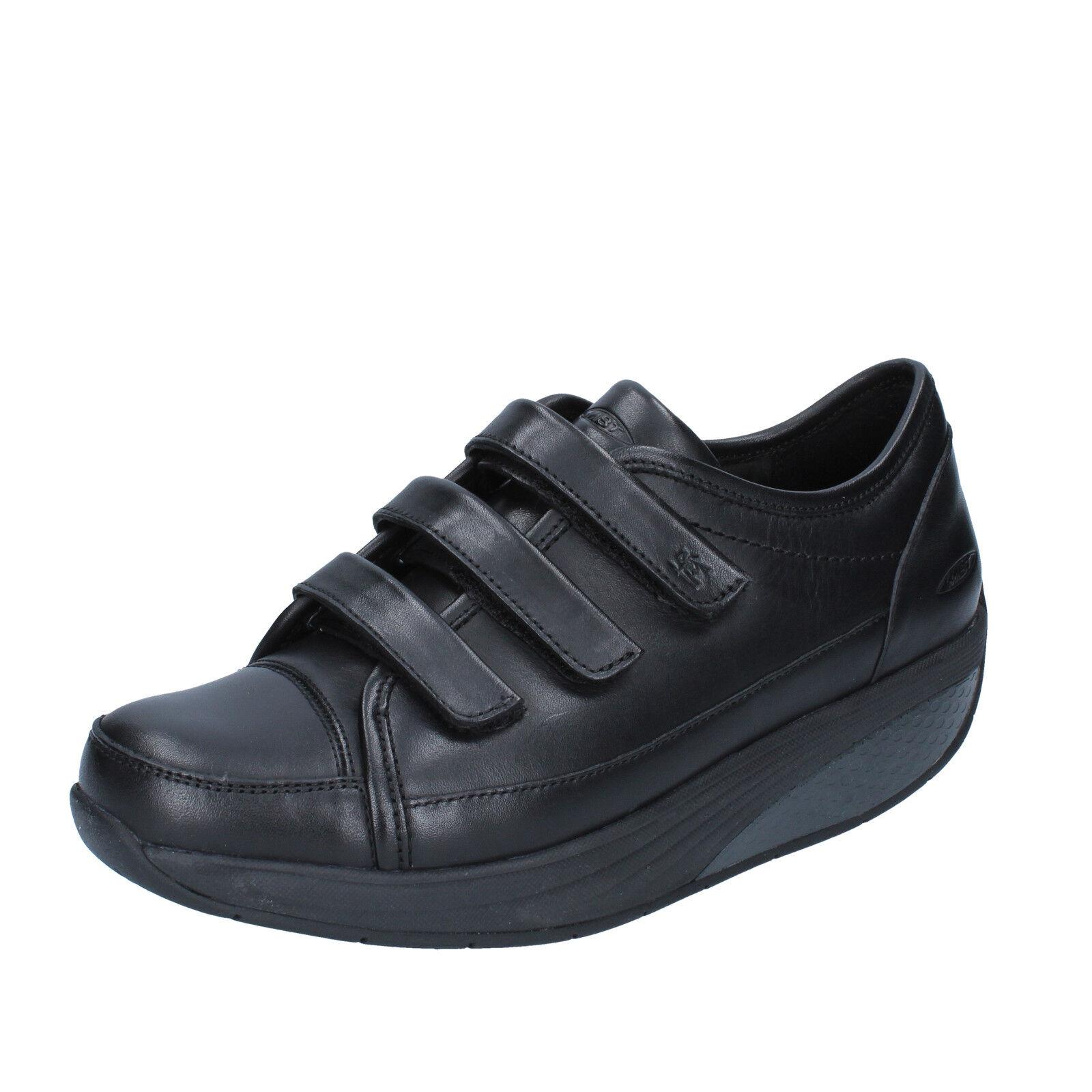 Scarpe donna MBT 37 EU scarpe da ginnastica nero pelle indice performance AC381-B