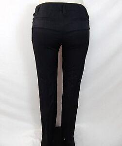 ECCOCI-BLACK-COTTON-METALLIC-SLIM-FITTED-PANTS-SLACKS-sizes-2-4-6-10-16-NEW
