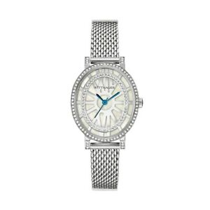 Wittnauer-Women-039-s-WN4038-Quartz-Oval-Silver-Tone-Bracelet-28mm-Watch