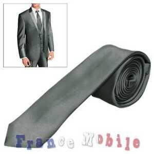 f6dd0063d7762 Classique Soie Mariage Mode Homme Commerce Business Cravate Gris 100 ...