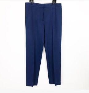 ESCADA-Size-42-US-12-Womens-Blue-Tapered-Leg-Trouser-Pants-High-Rise-Viscose