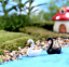 thumbnail 6 - Mini Swan Figurine Fairy Garden Ornaments Crafts Goose Model Miniature Animal