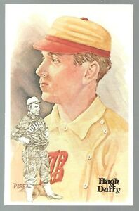 34-HUGH-DUFFY-Perez-Steele-Hall-of-Fame-Postcard
