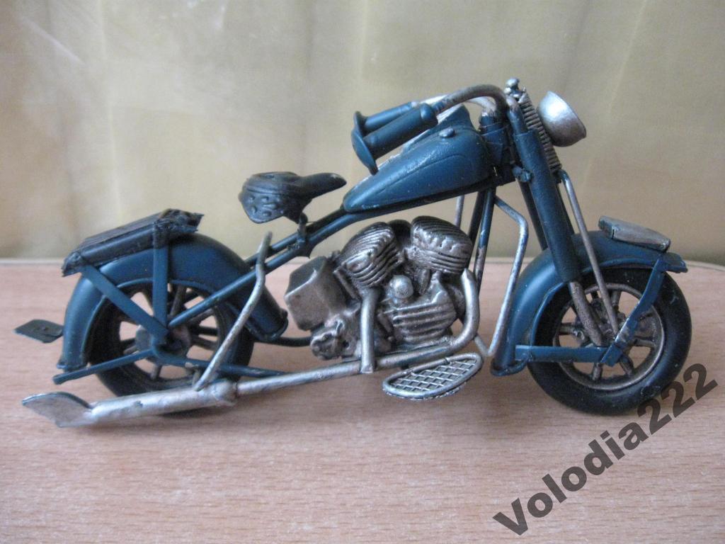 Vintage moto soviética Metal Juguete Modelo de Harley