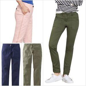 WOMEN'S Ex Boden Lizzie Cotone Chino Stile Pantaloni Taglia 6-22 RRP £ 59.50  </span>
