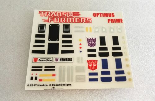 Ocean Detail Decals for MP10 Robot mode New version,In stock