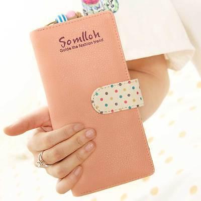 New Fashion Women PU Leather Wallet Lady Long Card Holder Handbag Clutch Purse