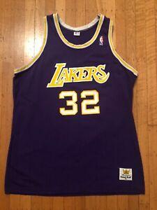 8e1c2c774 Magic Johnson Vintage Los Angeles Lakers Sand Knit LA NBA 80s Jersey ...