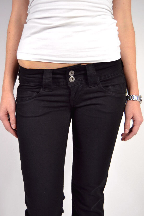 Genialste PEPE Jeans VENUS T41 schwarz NEU Stoffhose L30 L32 L34