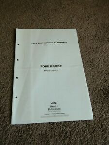 1991 Ford Probe Electrical Wiring Diagram Manual Schematic Sheets OEM  DEALER | eBay