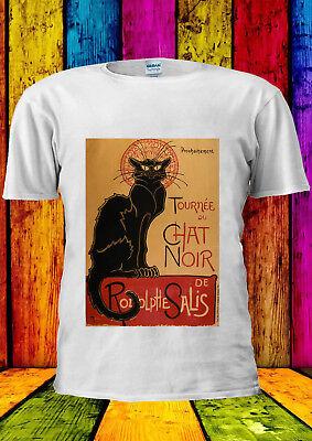 Colto Cat Tournee Du Chat Noir Natale T-shirt Canotta Canottiera Uomini Donne Unisex T-shirt M88-mostra Il Titolo Originale