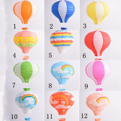 Heißluftballon Lampenschirm Papierlaterne Lampion Ballon Papier Party Deko WH