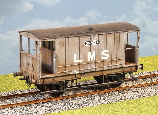 Parkside Models PS111 LMS  Ex MR Design  20T Goods Brake Van  Diag 1659  Kit O