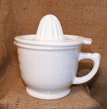 Measuring Cup Juicer White Milk Glass Reproduction Depression lemon lime #505W