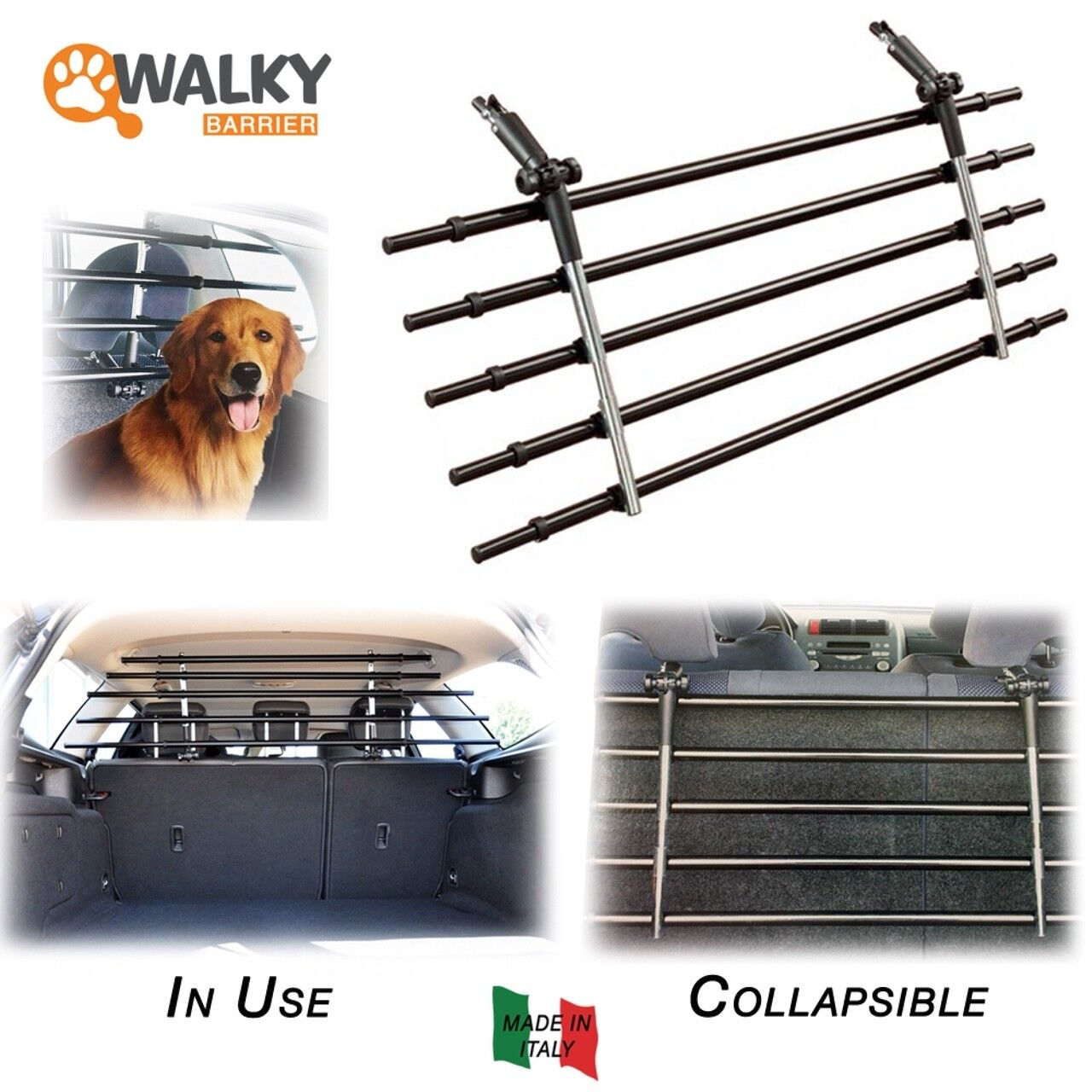 Walky Barrier Folding Universal Auto Pet Safety Barrier Pet Safety Car Fence