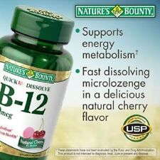 Nature's Bounty Sublingual Vitamin B-12 2500mcg 250 Tablets Cherry Flavor