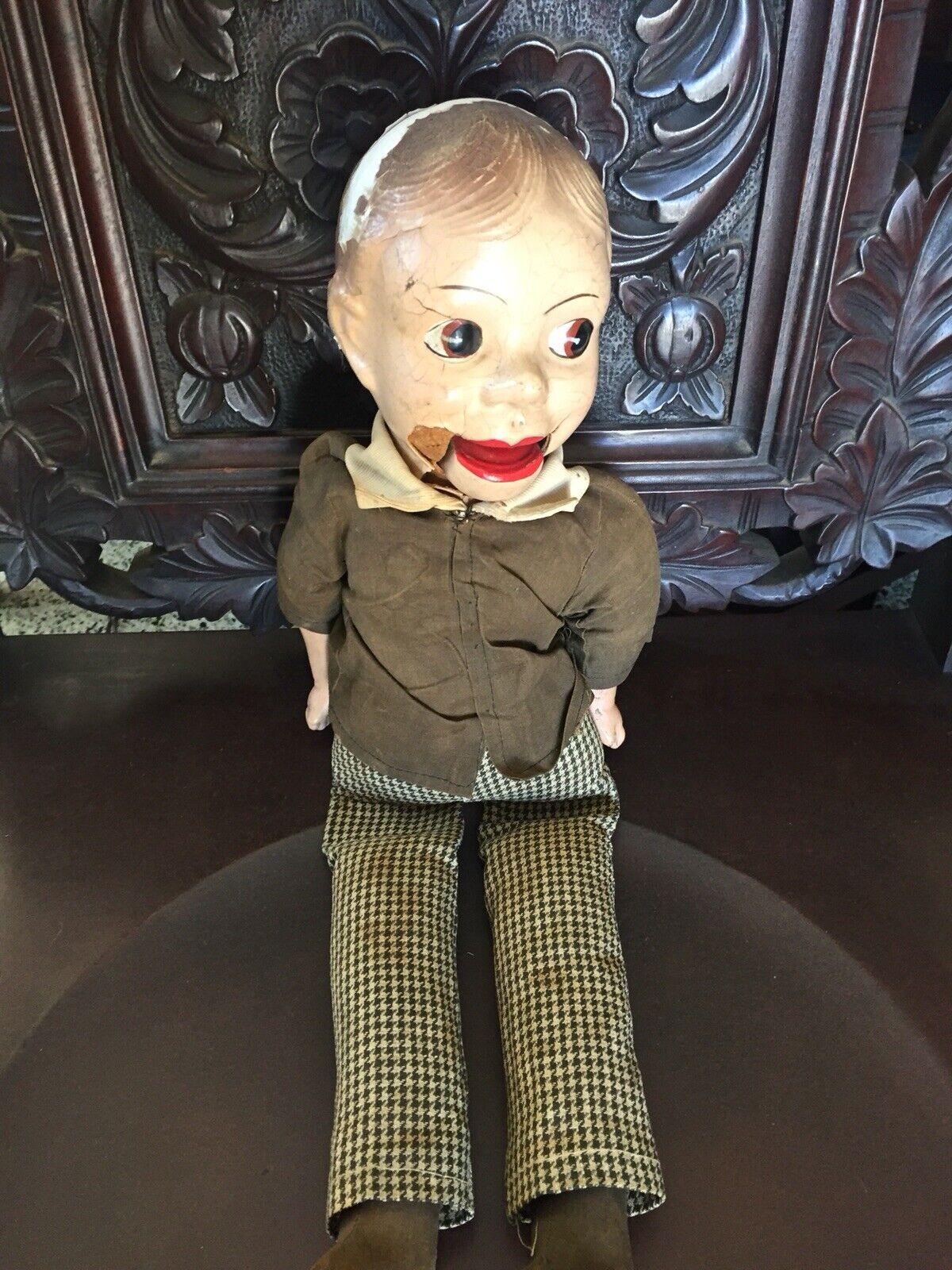 "Vintage 1930's Charlie McCarthy Dummy Ventriloquist Puppet Doll 20"" Composition"