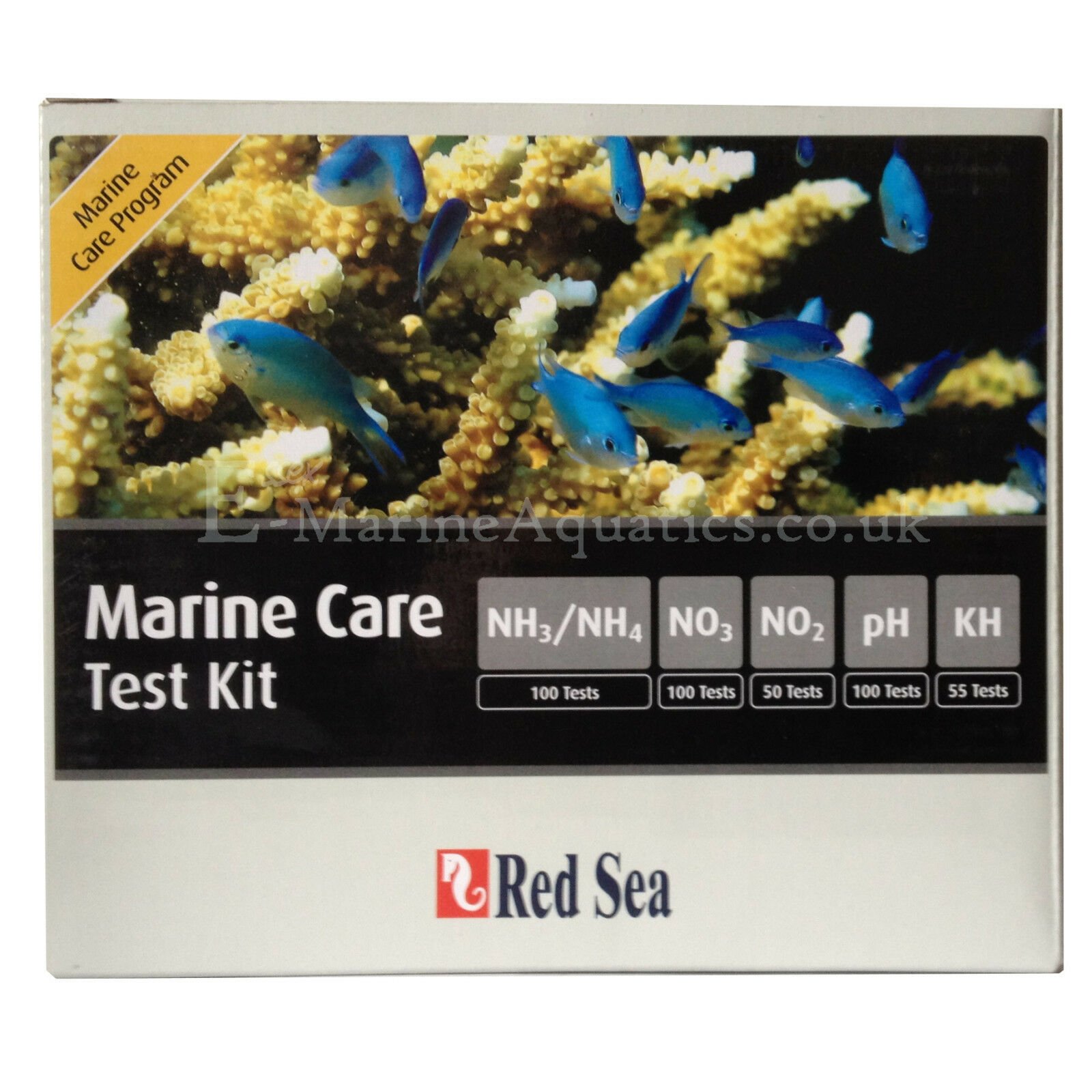 rot SEA MARINE CARE CARE CARE TEST KIT (AMMONIA NITRITE NITRATE pH ALK) 0983dd