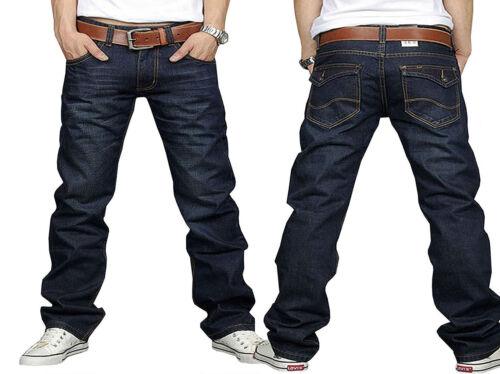 Mens Denim Jeans Regular Straight Fit Designer Stylish Trousers Pants