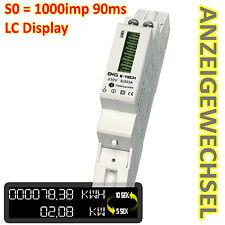 B+G e-tech - LCD Wechselstromzähler Stromzähler 5(50)A S0 Hutschiene - DRS155DC
