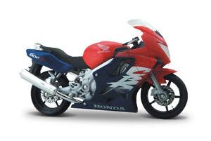 HONDA-CRF-600-F-ROSSO-BLU-scala-1-18-PRESSOFUSO-bike-model-von-Maisto