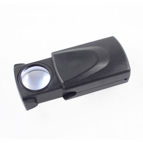 30X 21mm Microscope Loupe Pull Type Jewelry Magnifier LED Light Meaningful Gift