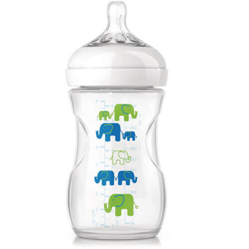 Junge Elefantendeko Philips Avent Naturnah Babyfläschchen 260 ml