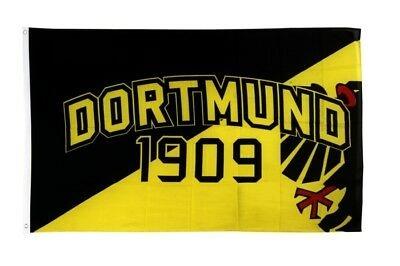 Fahne Fanflagge Dortmund 1909 Adler Flagge Fußball Hissflagge 90x150cm