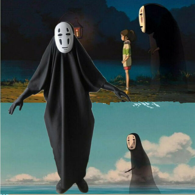 Studio Ghibli Spirited Away Kaonashi No Face Faceless Cosplay Costume Adult Xxl For Sale Online Ebay