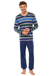 SCHIESSER-Hombres-Pijama-100-Algodon-48-110-Normal-sobre-tamanos-de-largo-S-LXL