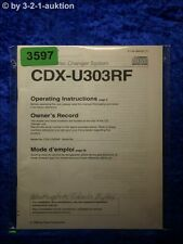 Sony Bedienungsanleitung CDX U303RF CD Changer (#3597)