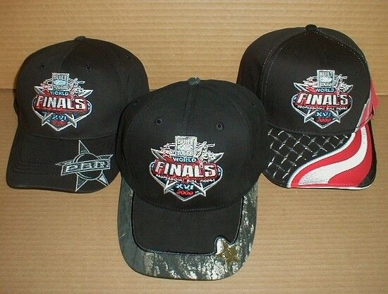 Pro Bull Riders 2009 Las Vegas NV Nevada World  Finals Rodeo Ford Hat Lot New x3  best sale
