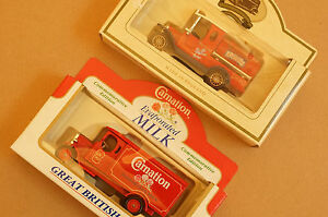 Rare-Models-of-Promotion-Red-Carnation-Truck-and-Red-Walkers-Vegetable-Oil-Truck