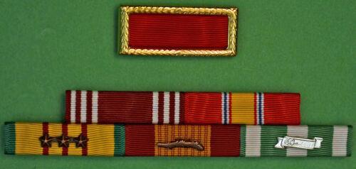 Army Vietnam War Mounted 5 Ribbon Bar with Mounted Meritorious Unit Citation