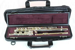 Yamaha-YFL-462H-Advanced-Solid-Silver-Flute-MINT-CONDITION