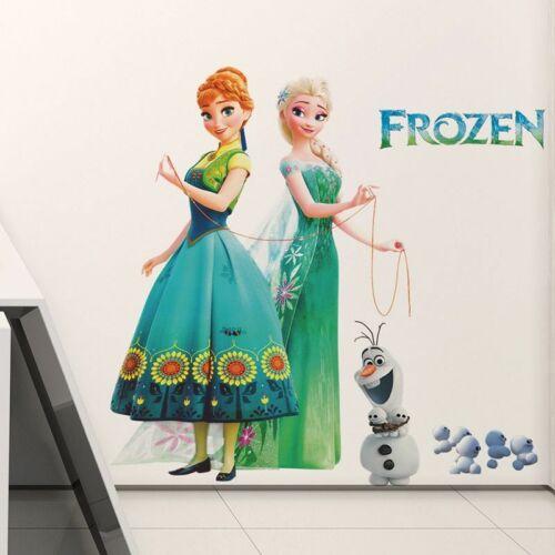New Elsa Anna Princess Frozen Wall Stickers Vinyl For Kids Room Home Decor Art