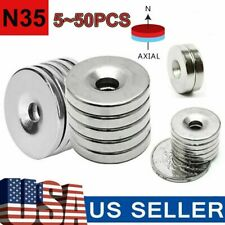 N35 Countersunk Ring Round Disc Strong Magnets Rare Earth Neodymium Hole 5mm Us