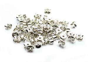 925-Sterling-Silver-Earring-Backs-Butterfly-50-pieces