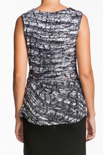 Velvet by Graham /& Spencer Breana Top CREAM Black Beige Tank Shirt V neck Wrap