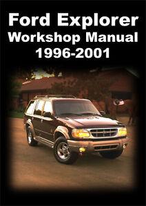 ford explorer workshop manual 1996 2001 ebay rh ebay com au ford explorer 2017 workshop manual 2002 ford explorer workshop manual