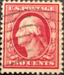 Vintage-Scott-375-US-1910-Washington-Postage-Stamp-Perf-12