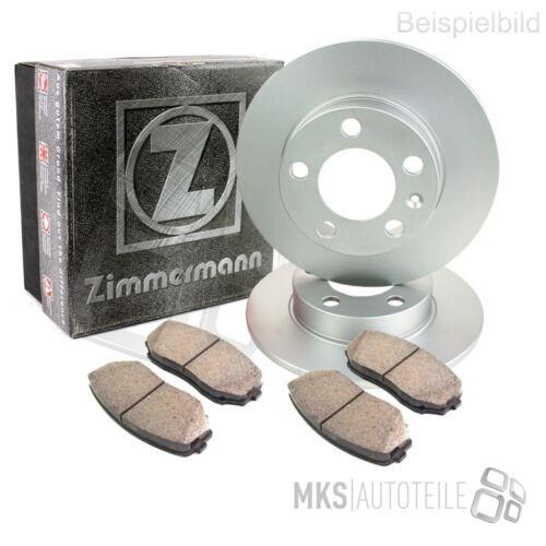 2x Zimmermann Disques De Frein Garnitures de freins complet Set Arrière BMW 3874073