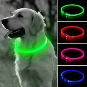 USB-Rechargeable-Pet-Dog-Collar-LED-Flashing-Light-Up-Safety-Belt-K6X7